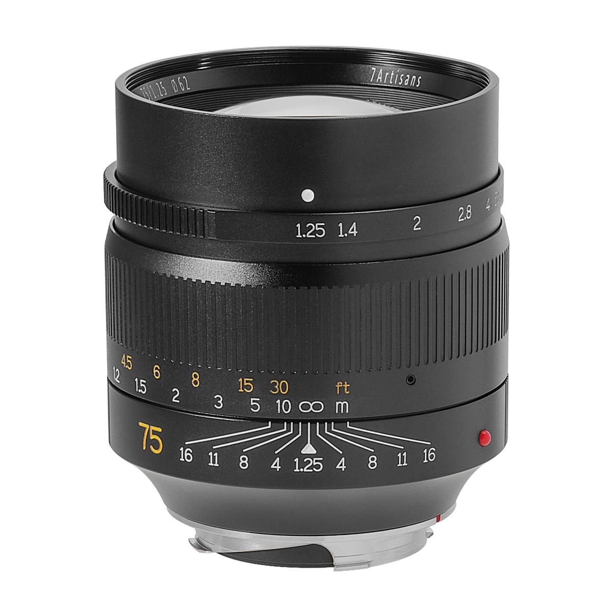 七工匠 7Artisans 75mm F1.25 単焦点レンズ ライカMマウント