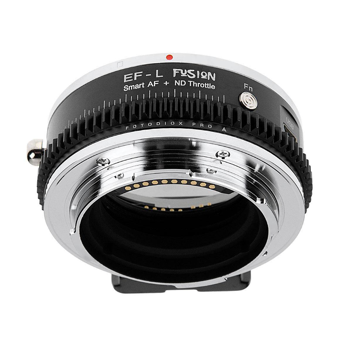 Fotodiox EF-LT-FSN-NDT(キヤノンEFマウントレンズ → Lマウント[バヨネット]変換)電子マウントアダプター 可変式NDフィルター内蔵 ファンクションボタン搭載