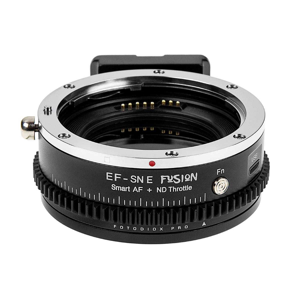 Fotodiox EF-SNE-FSN-NDT II(キヤノンEFマウントレンズ → ソニーEマウント変換)電子マウントアダプター 可変式NDフィルター内蔵