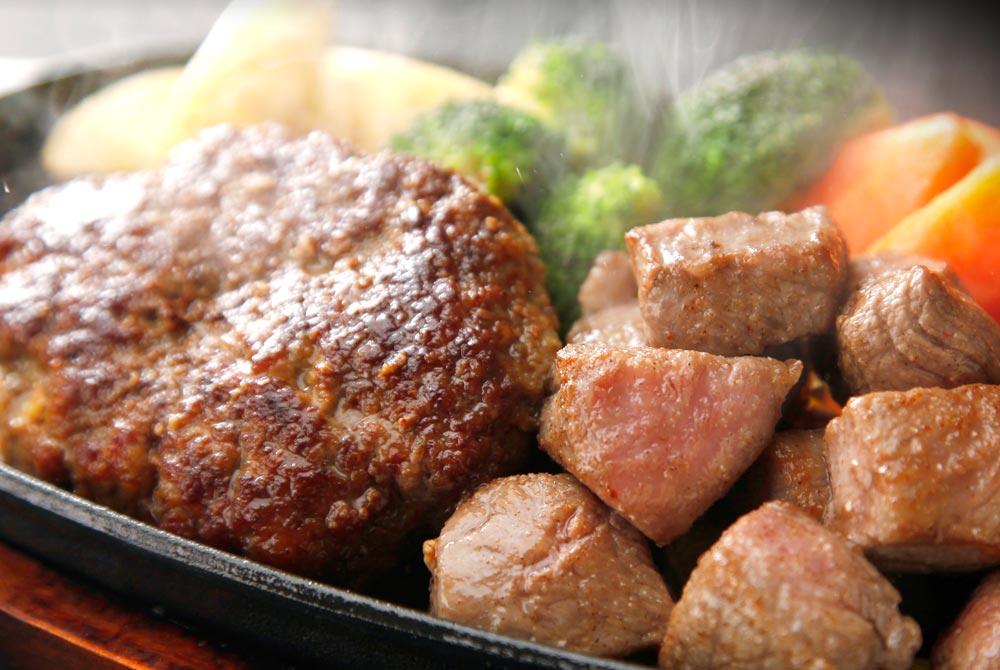 サイコロステーキ&ハンバーグ