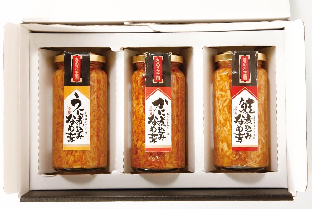 北海道きのこ王国 海鮮なめ茸瓶3本セット