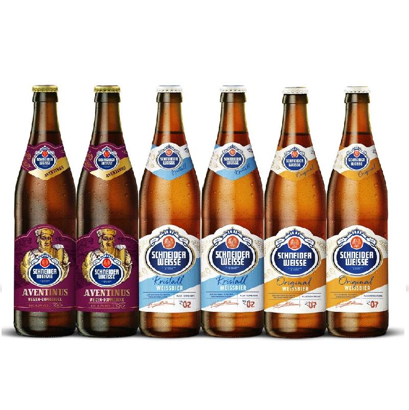 ◇夏季限定クリスタル入り◇Schneider Weisse500ml 3種×2本 6本飲み比べセット(クリスタル、オリジナル、アヴェンティヌス)