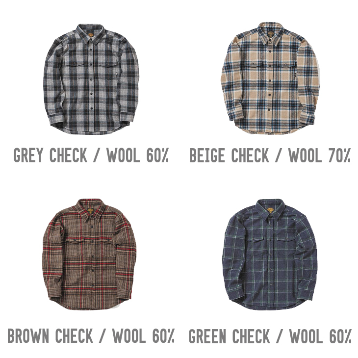 WOOL FLANNEL SHIRTS