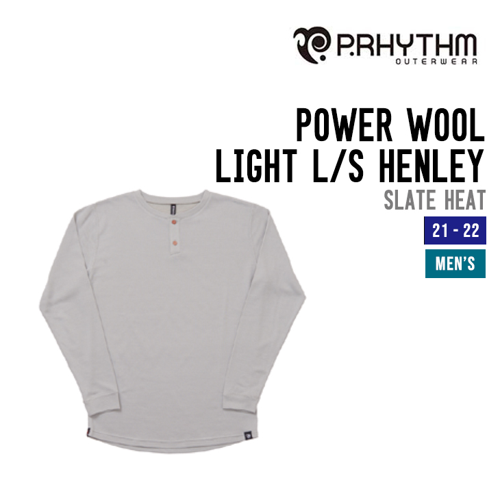 POWER WOOL LIGHT L/S HENLEY