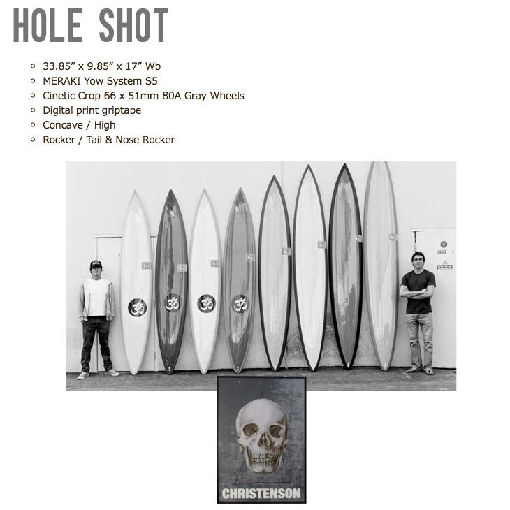 HOLE SHOT 33.85