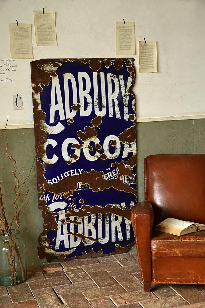イギリス Cadburyホーロー看板