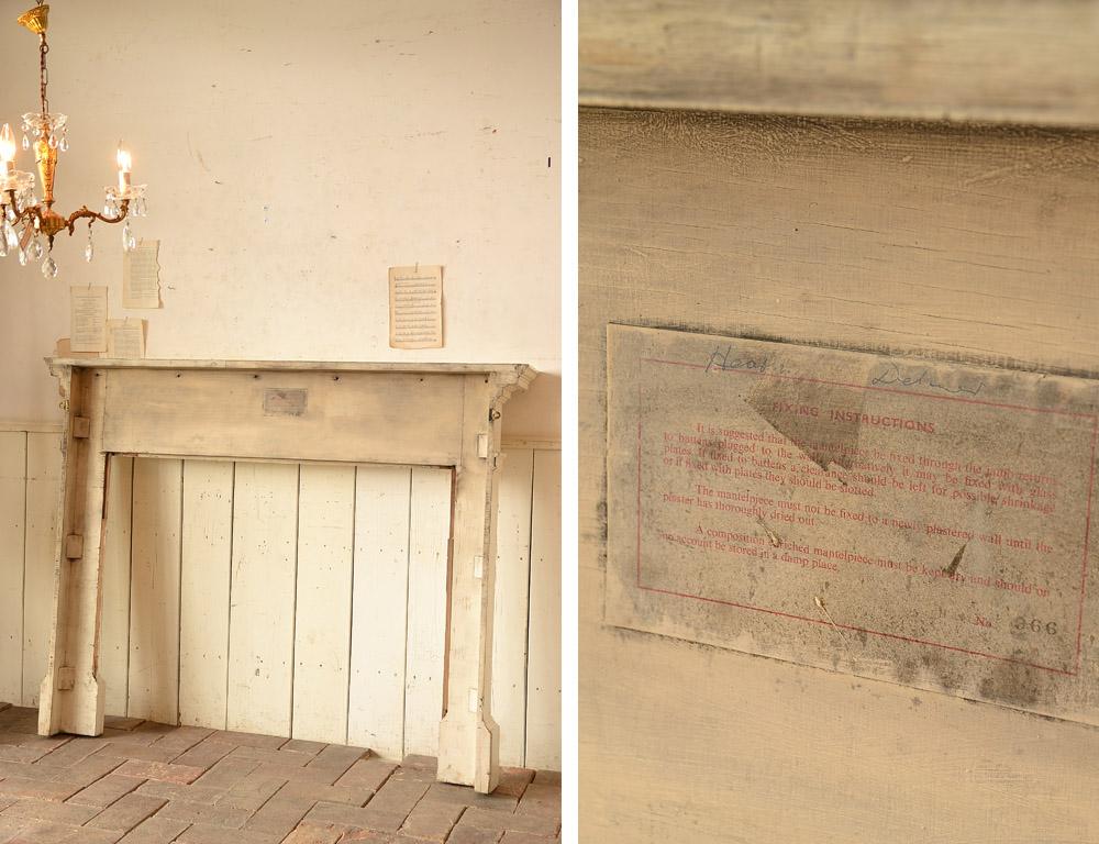 イギリス 木製マントルピース