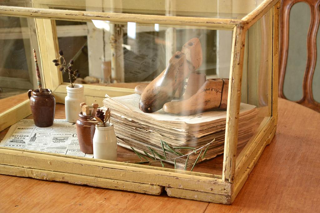 イギリス 台形ガラスケース