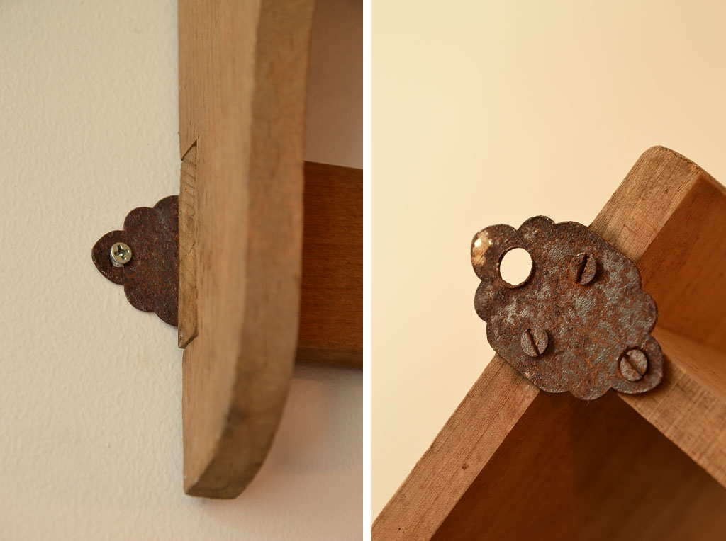 イギリス 木製ウォールラック