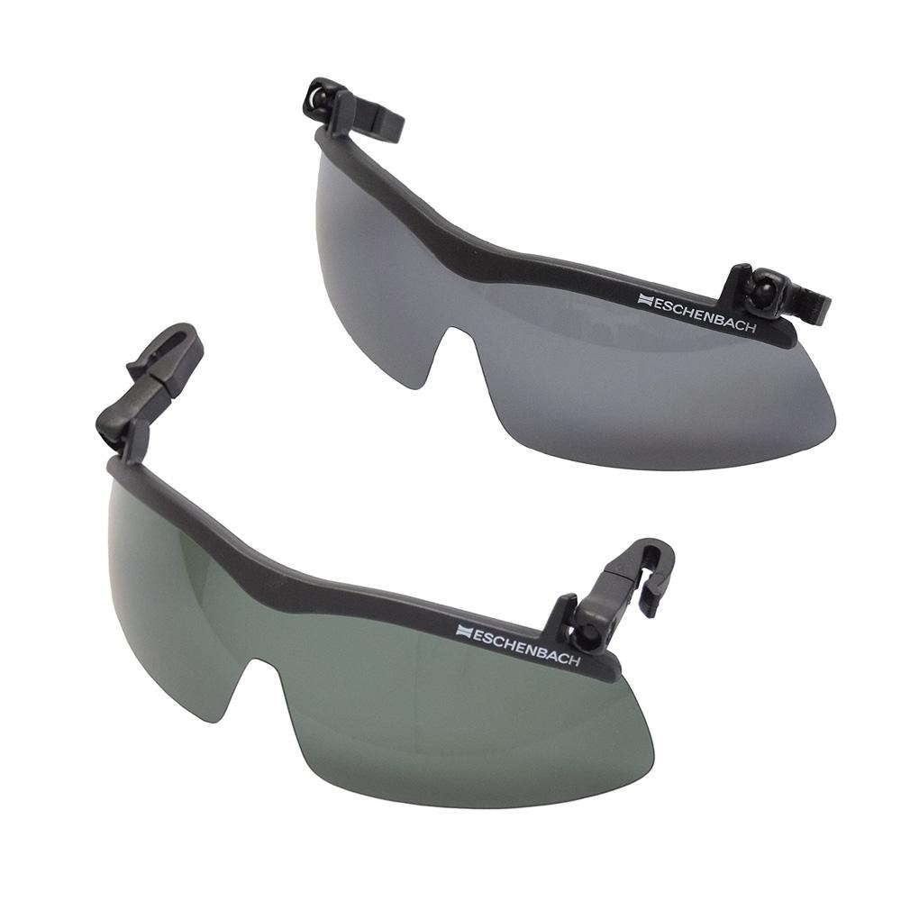 ESCHENBACH 偏光サングラス キャップ クリップ サンシェード 帽子につけるサングラス グレー/ダークグリーン