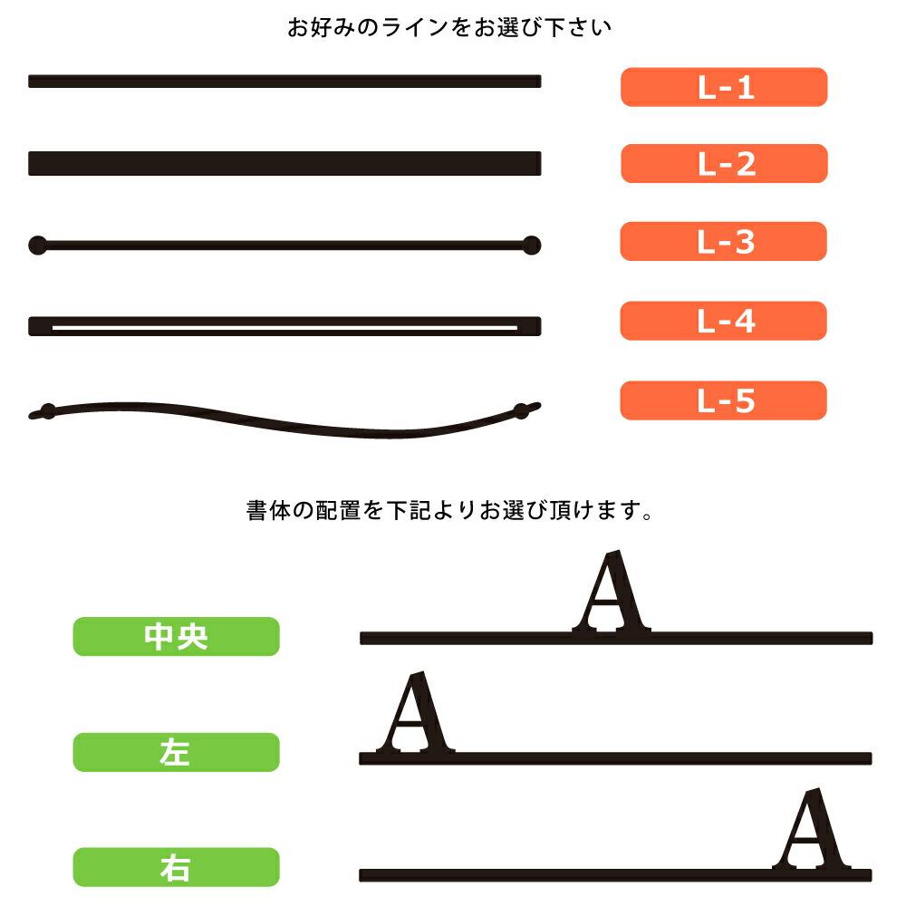 【サインデポ本店】ステンレス表札 戸建 27種から選べるおしゃれなアイアン風切り文字表札 MiBAE The Line