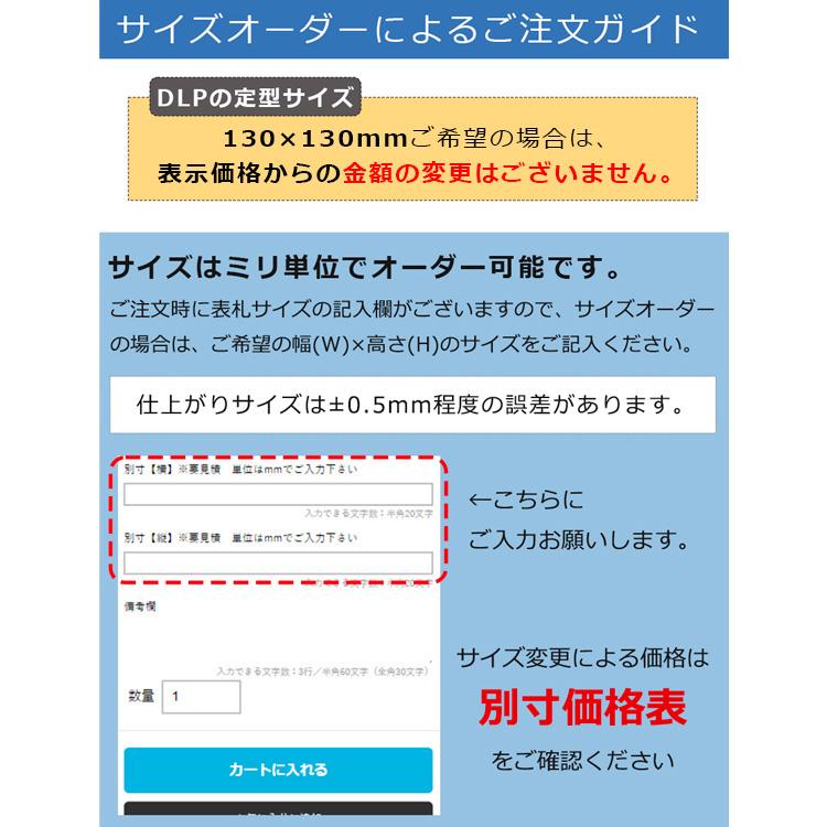 表札 ステンレス 表札 130×130mm マンションプレートDLP-PL-501