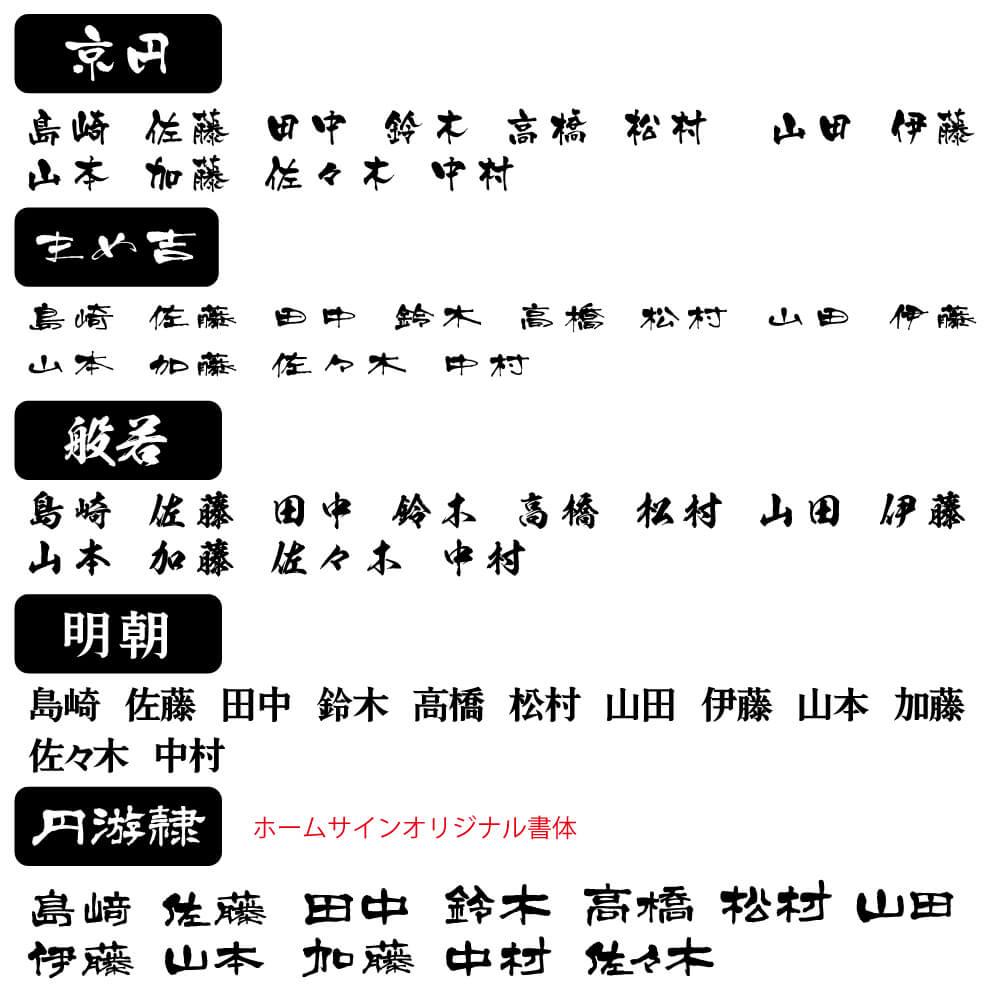 アイアン風 ステンレス 表札 切り文字【漢字】SK-和ライン-2B