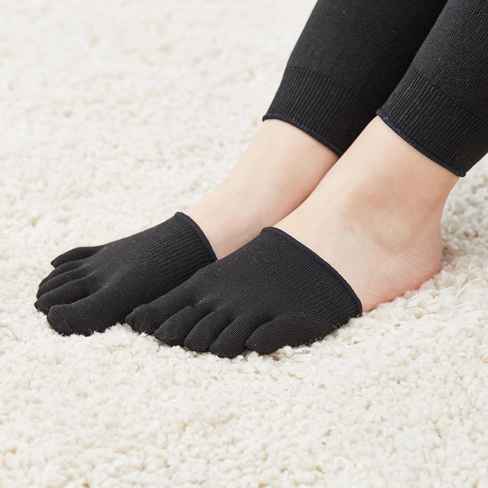 指先カバー靴下 シルク80% SILK DE KYOTOオリジナル