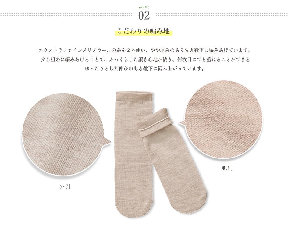 ウール冷えとり靴下 ストレスフリー