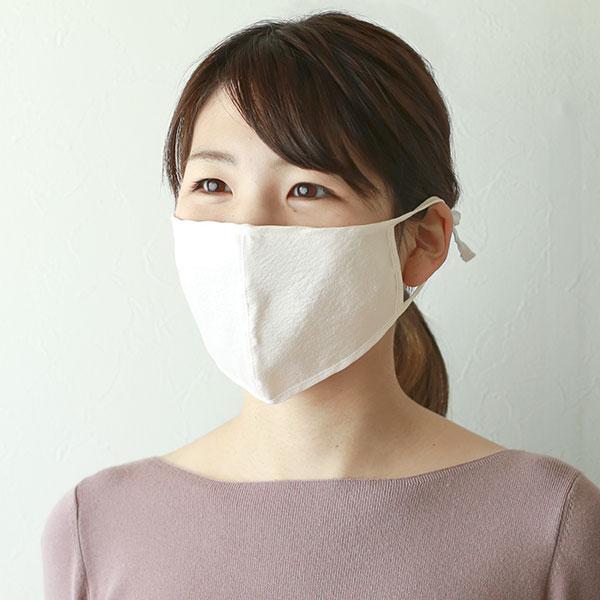 数量限定 双子の繭 正絹涼しいマスク