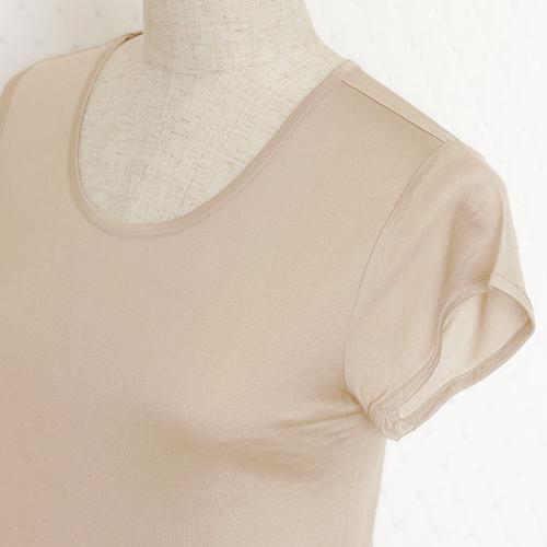 他ブランド 正絹100%シルクニット フレンチ袖
