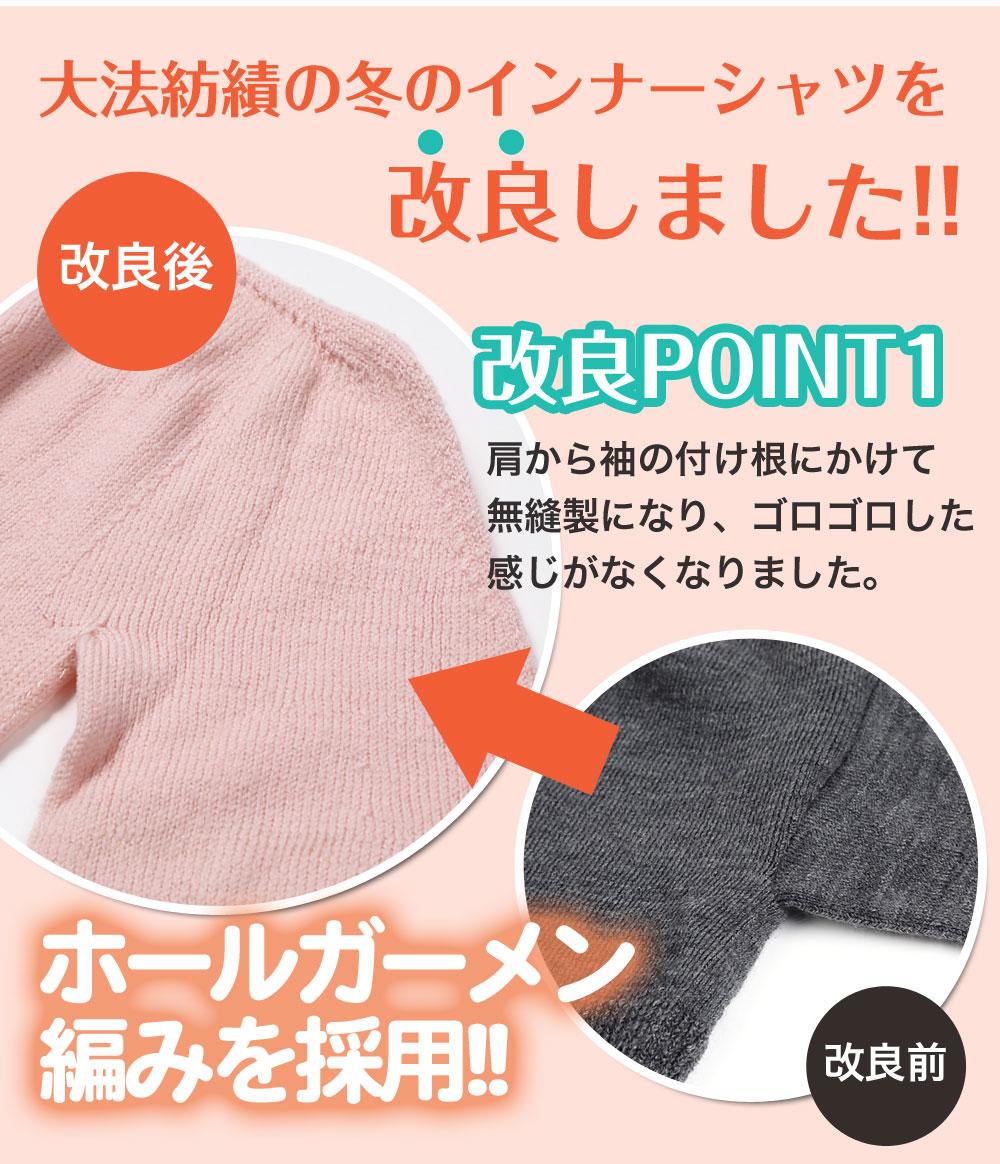 冷えとりインナーシャツ シルク&ウール Vネック