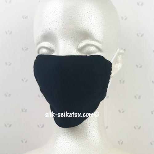 【繰り返し洗って使える】 ノーズワイヤー入り 2重編みコットンマスク (2枚入り)