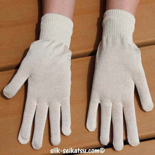 シルク(絹紡糸)手袋