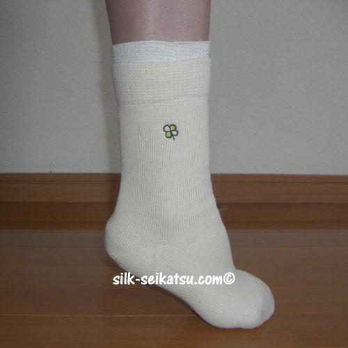 シルク(絹紡糸)5本指+3足重ね靴下