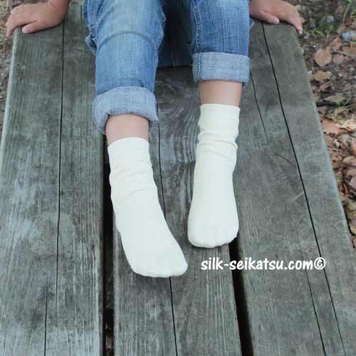 シルク&コットン・キッズフリー靴下