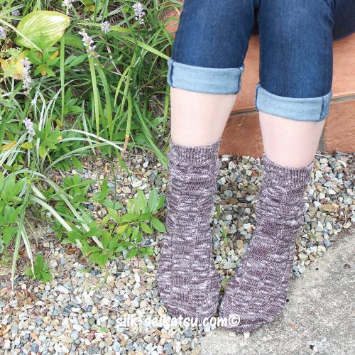 綿スラブ・リブ靴下