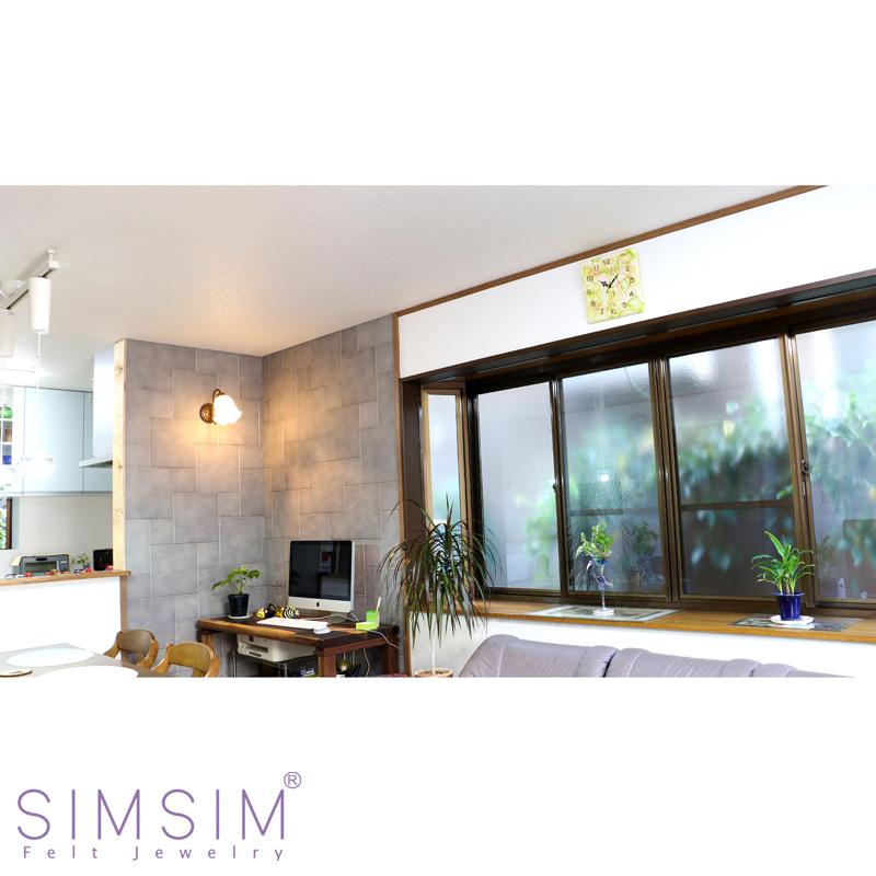 SIMSIM掛け時計(若草)