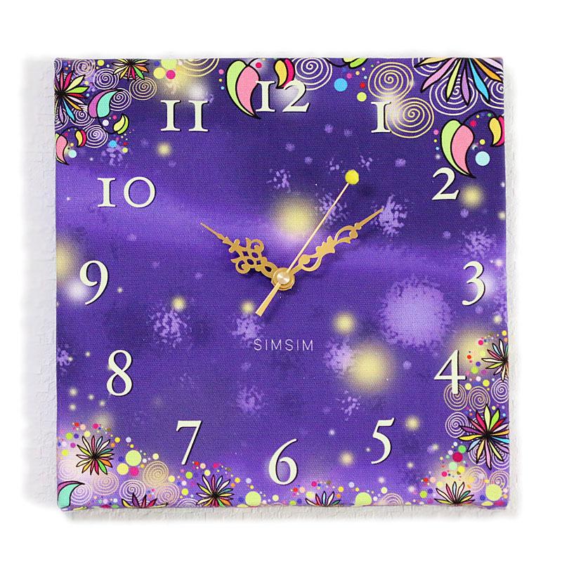 ファブリック掛け時計(夢物語の星空)