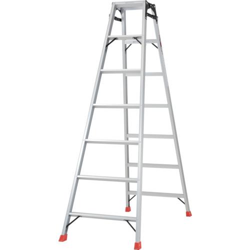 TRUSCO はしご兼用脚立 アルミ合金製・脚カバー付 高さ1.98m