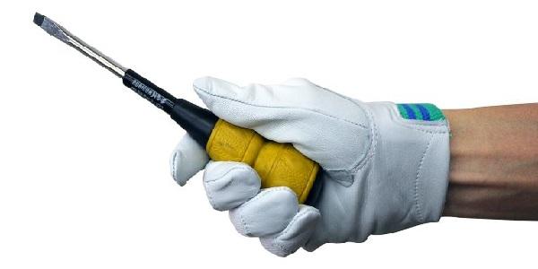 【ワークグローブ】 富士グローブ『デンコーアルミ牛皮クレスト甲メリヤス No.12A』 【作業手袋】