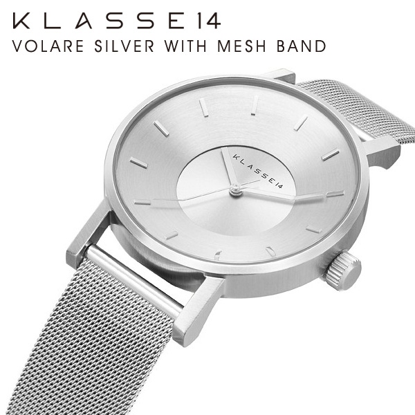KLASSE14 VOLARE SILVER WITH MESH BAND