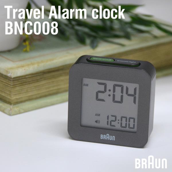 BRAUN/ブラウン BNC008 アラームクロック トラベルクロック 目覚まし時計 ドイツ おしゃれ デジタル