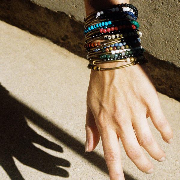 BRANCO Tubular Bracelets 天然石 真鍮 ブレスレット パワーストーン ハンドメイド メンズ レディース ユニセックス おもしろ雑貨 プレゼント ギフト メール便OK