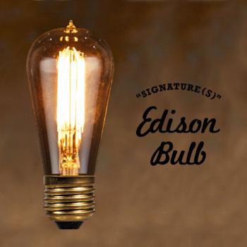 LED Edison Bulb SIGNATURE 【Sサイズ】 シグネチャー エジソンバルブ タングステン電球 インテリア 照明 口金E26タイプ 3W 輸入雑貨 腕時計とおもしろ雑貨のシンシア 天井 部屋 リビング 間接照明 プレゼント