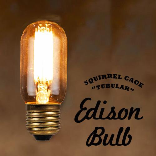 LED Edison Bulb TUBULAR チューブラー エジソンバルブ タングステン電球 インテリア 照明 口金E26タイプ 3W 輸入雑貨 腕時計とおもしろ雑貨のシンシア 天井 部屋 リビング 間接照明 プレゼント