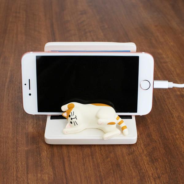 じゃま猫 スマホ スタンド 猫あるある スマホホルダー ねこ スマートフォン 携帯 おもしろ雑貨 プレゼント 贈り物 ギフト