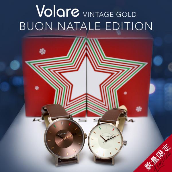 klasse14 VOLARE Vintage Gold Buon Natale 42mm 36mm