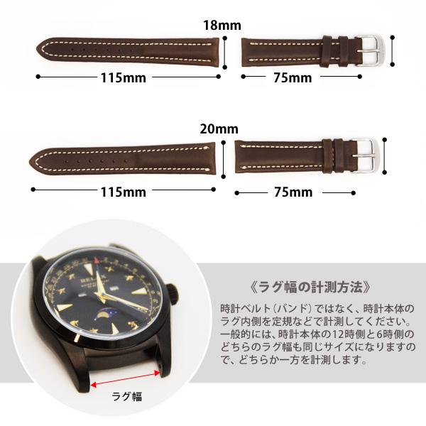時計バンド 時計ベルト 革ベルト 革 FLUCO Chrono Nabucco クロノ・ナブッコ 18mm 20mm 男女兼用 メンズ レディース【メール便OK】