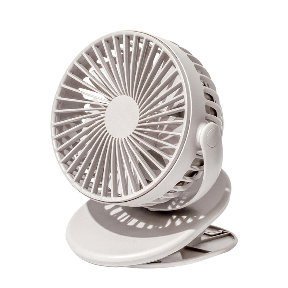 SOLOVE 卓上 扇風機 クリップ タイプ バッテリー内蔵 オフィス USB 扇風機 ボタン 3段階風量調節 強風 おしゃれ 携帯扇風機
