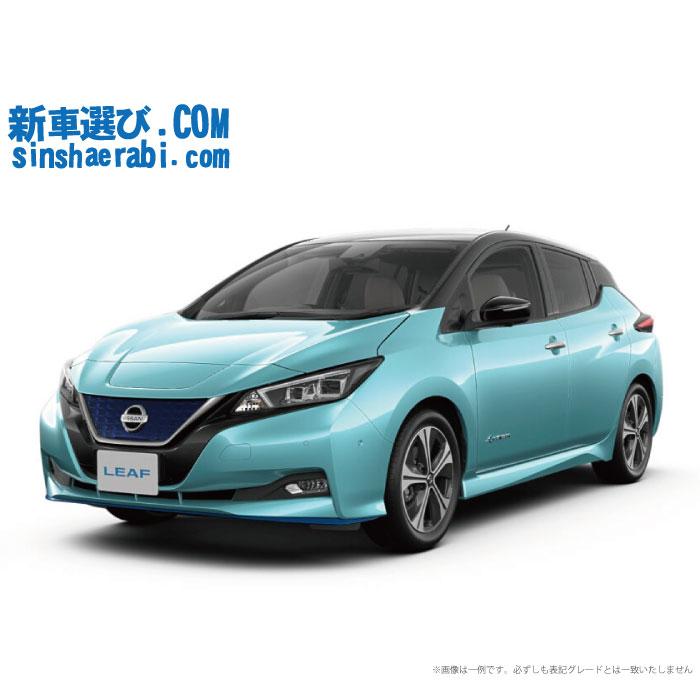 《新車 ニッサン リーフ 2WD e+ G 》<br>☆こちらの新車にはEV専用NissanConnectナビ・アラウンドビューモニター・前後監視タイプ ドライブレコーダー・ETC・フロアマット・ドアバイザーが標準装備されてます!