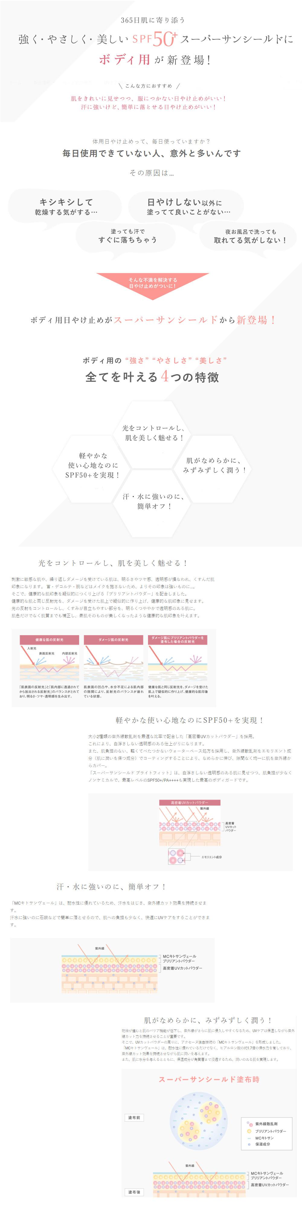 【アクセーヌ】 スーパーサンシールド ブライトフィット 40g  SPF50+・PA++++(日やけ止め乳液)★