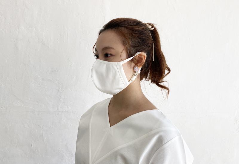 日本製 コットンポンチ_マスク(クリックポスト発送198円/日時指定の場合は通常料金)