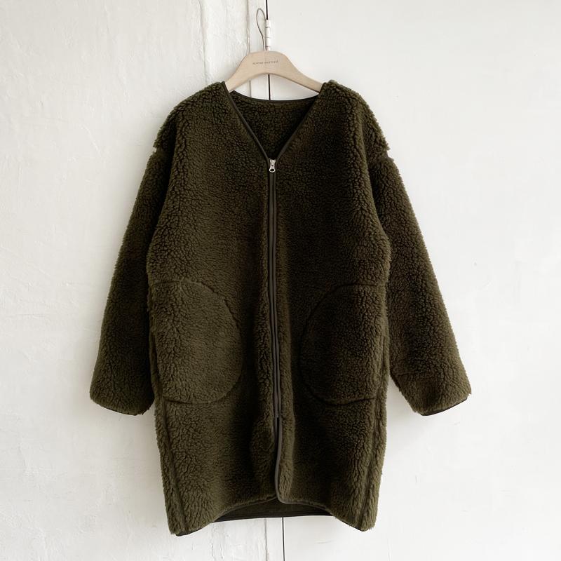 ボアフリースロングジャケット