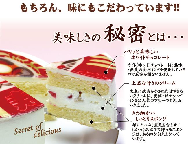 だるま 達磨 ケーキ 生クリーム 5号サイズ 黄色  送料無料 お菓子 お祝い 祈願成就に チョコペン付