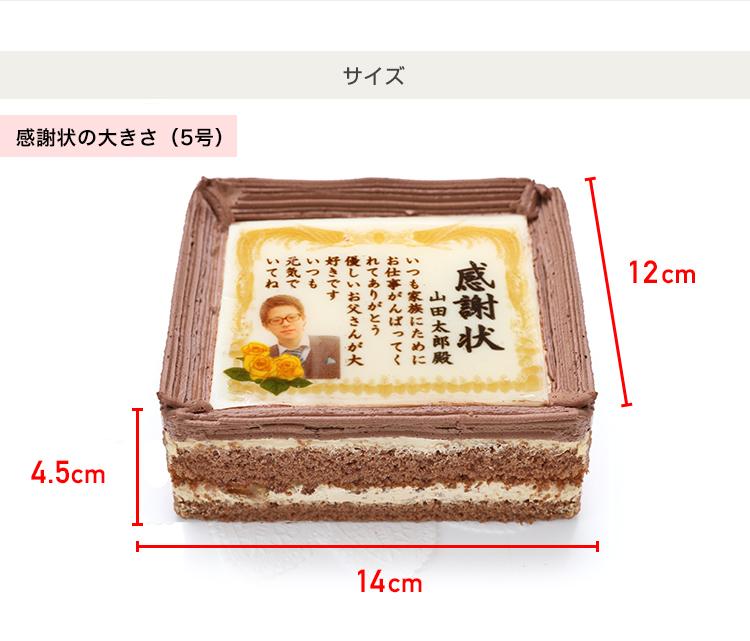 送料無料 父の日 ケーキ  感謝状ケーキ / 5号サイズ キャラメルクリーム味 / 父の日限定カード付♪ スイーツ 食品 おつまみ