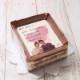 お手紙ケーキ 4色のハートマーク (7号サイズ キャラメルクリーム味) 名入れ オリジナル文 オリジナル写真 飾れるフォトフレーム付 【冷凍】