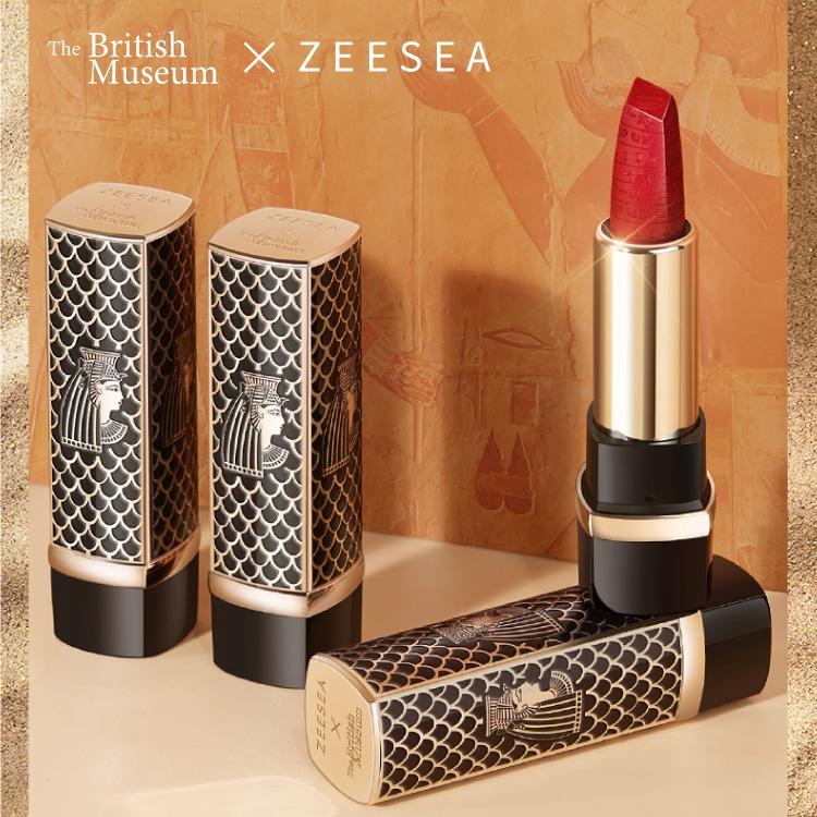 【名入れ可能】リップ ZEESEA(ズーシー)正規代理店 大英博物館 エジプトシリーズ 口紅 リップスティック 中国コスメ