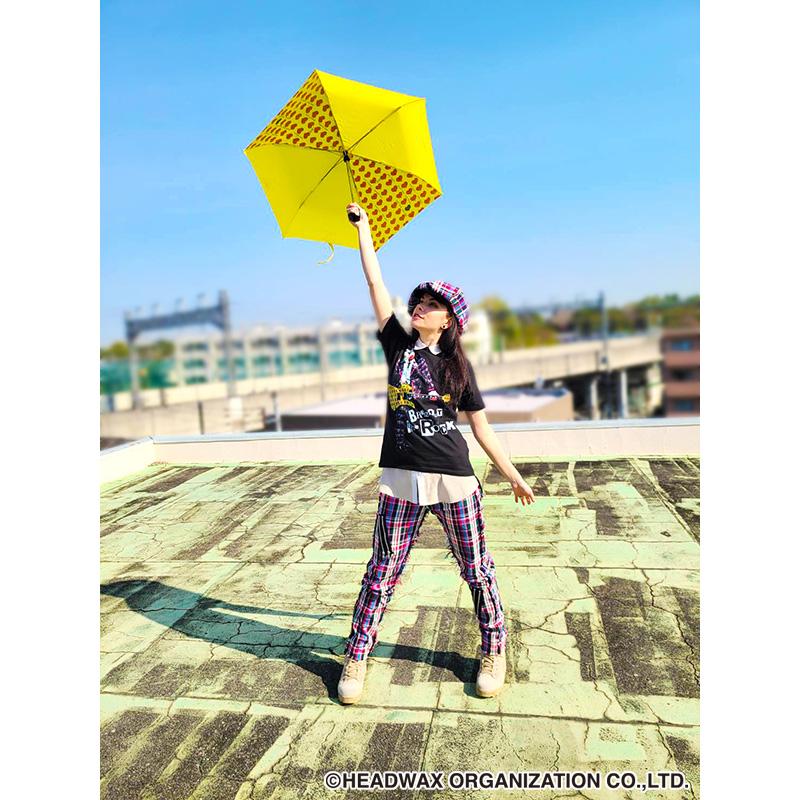 イエローハート折りたたみ傘