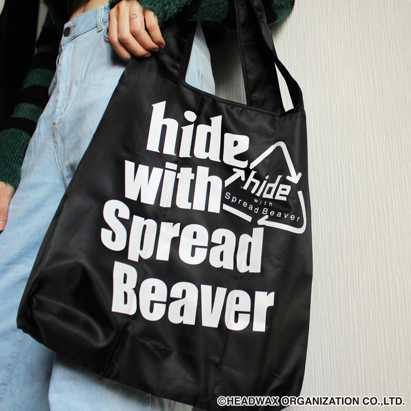 hide with Spread Beaver ポケッタブルエコバッグ